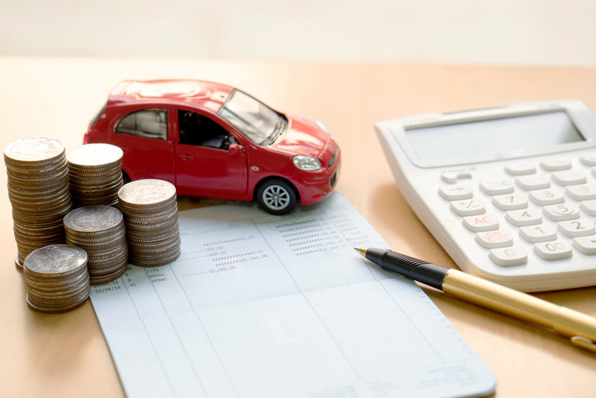 image of car and calculator